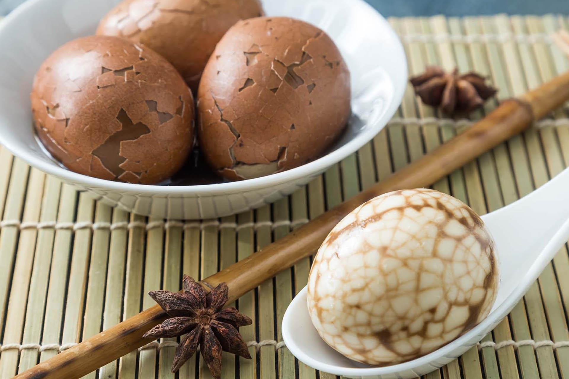 Uova marmorizzate al tè